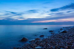 Stones on shore of the Baltic Sea Royalty Free Stock Photo