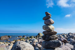 Stones on shore of the Baltic Sea Stock Photography
