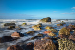 Stones on shore of the Baltic Sea Royalty Free Stock Image