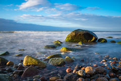 Stones on shore of the Baltic Sea Stock Image