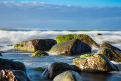 Stones on shore of the Baltic Sea Royalty Free Stock Images