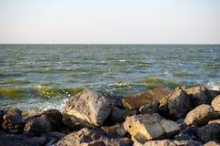 Stones on the shore Royalty Free Stock Photo