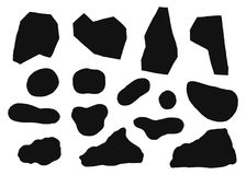 Stones silhouette vector. isolated on white background black color. Stones silhouette vector. isolated on white background Vector Illustration