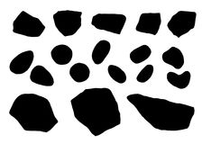 Stones silhouette vector. isolated on white background black color.  Royalty Free Illustration