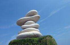 Stones in sky Stock Photo