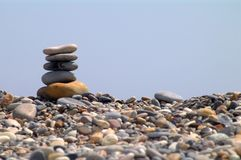 Stones and sky Royalty Free Stock Photography