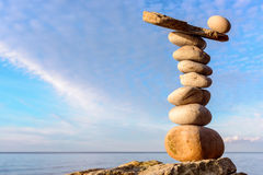 Stones on sky background Royalty Free Stock Photography