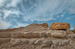 The Stones and the Sky. The rocks of the Israeli desert Royalty Free Stock Images