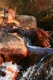 Stones in a small waterfall Royalty Free Stock Photo