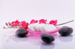 Stones and soaps beauty concept Stock Photography