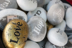 Stones souvenirs happiness love hope dreams Royalty Free Stock Photos