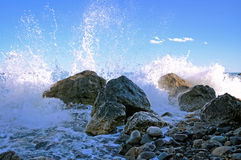 Stones and splashes Royalty Free Stock Images