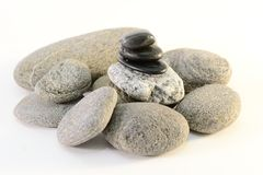 Stones stack. Zen stones stack isolated on white background. Spa concept Stock Photography