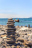 Stones on stack on the beach Stock Photos