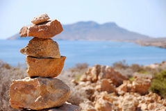 Stones stacked in balance. Stock Photography