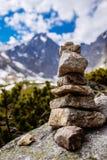 Stones stacked pyramid Royalty Free Stock Photo