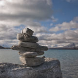 Stones stacked - symbol of good luck Royalty Free Stock Photography