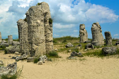 Stones. Stone forest in Bulgaria, near Varna Royalty Free Stock Images