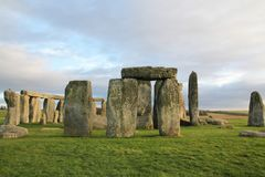 The stones of Stonehenge, a prehistoric monument in Wiltshire, E. Ngland. UNESCO World Heritage Sites royalty free stock photos