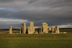 The stones of Stonehenge, a prehistoric monument in Wiltshire, E. Ngland. UNESCO World Heritage Sites stock images