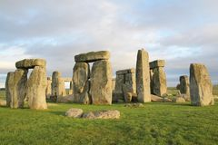 The stones of Stonehenge, a prehistoric monument in Wiltshire, E. Ngland. UNESCO World Heritage Sites royalty free stock photo