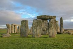 The stones of Stonehenge, a prehistoric monument in Wiltshire, England. UNESCO World Heritage Sites. The stones of Stonehenge, a prehistoric monument in stock images