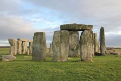 The stones of Stonehenge, a prehistoric monument in Wiltshire, E. Ngland. UNESCO World Heritage Sites royalty free stock image