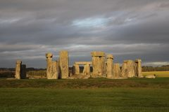 The stones of Stonehenge, a prehistoric monument in Wiltshire, E. Ngland. UNESCO World Heritage Sites royalty free stock photography