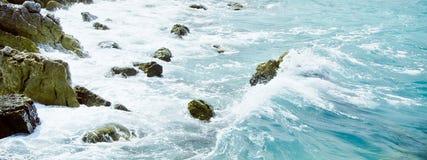 Stones and storm near island Royalty Free Stock Photo