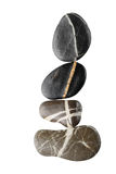 Stones with  stripes arranged to a curve Stock Image