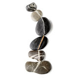 Stones with stripes arranged to a curve Royalty Free Stock Photos