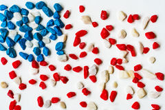 Stones - stylized image of the American flag Royalty Free Stock Image