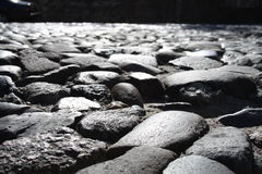 Stones in the sun. This is on river street in savannah Royalty Free Stock Image