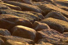 Stones sun light Royalty Free Stock Image