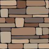 Stones texture. Seamless stone wall, brick background texture Stock Images