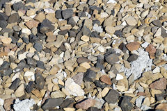 Stones textures. On a floor of pebbles with various measures stock photography