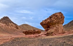 Stones of Timna park. This shot was taken in winter time at the National geological and historical park Timna, Israel Stock Photography