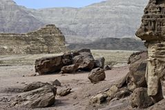 Stones of Timna park, Israel Royalty Free Stock Images