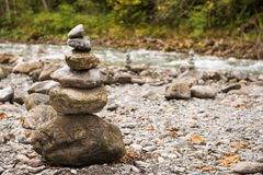 Stones on top each other Royalty Free Stock Image