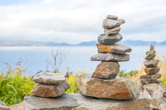 Stones tower Stock Image