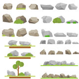 Stones and trees royalty free illustration
