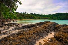 On the stones tropical beach Stock Photo