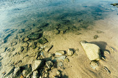 Stones under the sea Stock Photo