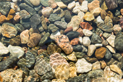 Stones under water. For the background Stock Photo