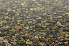 The stones under water Royalty Free Stock Images