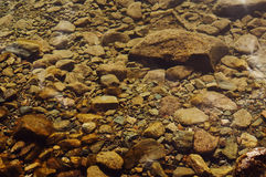 Stones under water Royalty Free Stock Images