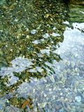 Stones underwater. Sea water reflection and background stock images