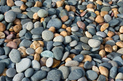 Stones of various shapes and colors Royalty Free Stock Photo