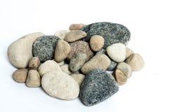 Stones. Various stones on a white background Royalty Free Stock Photo