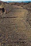 Stones of volcanic flow Stock Image
